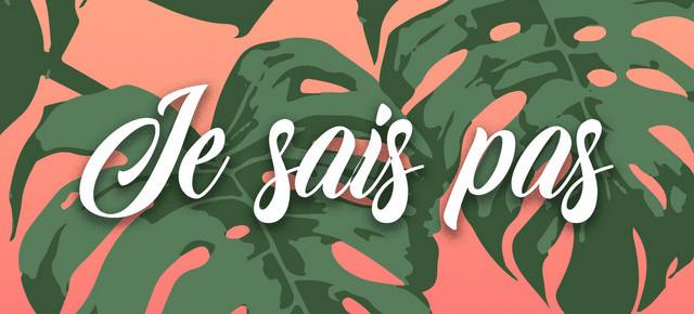 """New release """"Je Sais Pas"""""""
